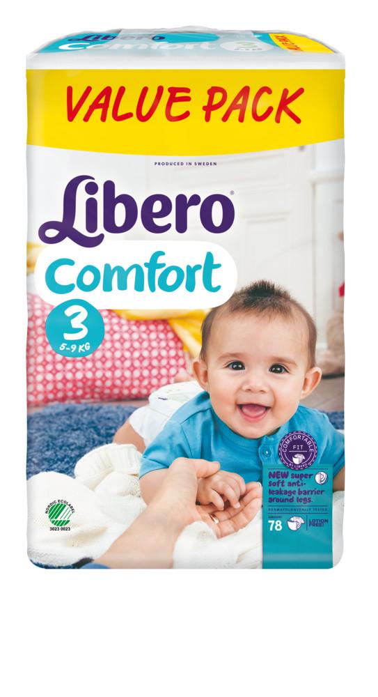 Подгузники Libero Comfort 78 шт номер 3 5-9 кг libero comfort 3 4 9 22
