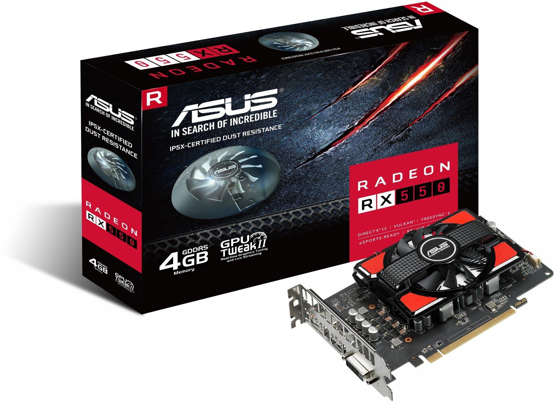 Видеокарта Asus RX550-4G Radeon RX 90YV0AG0-M0NA00 рено сценик rx 4 в мурманске