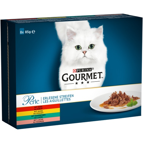 Gourmet Perle Mini Fillets корм для кошек 8 х 85 гр говядина гурме консервы пауч с лососем для кошек gourmet perle mini fillets 85 г