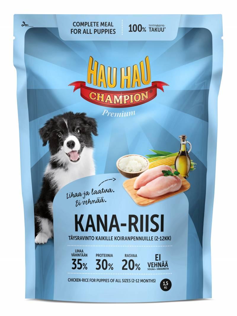 Корм для щенков Hau-Hau Champion \Курица и рис\ 1,5 кг hau hau champion купить в мурманске