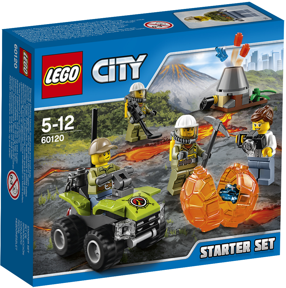 LEGO City 60120 Набор для начинающих \Исследователи вулканов\