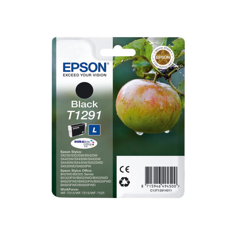 Картридж Epson DuraBrite Ultra Ink T1291 (черный) C13T12914021