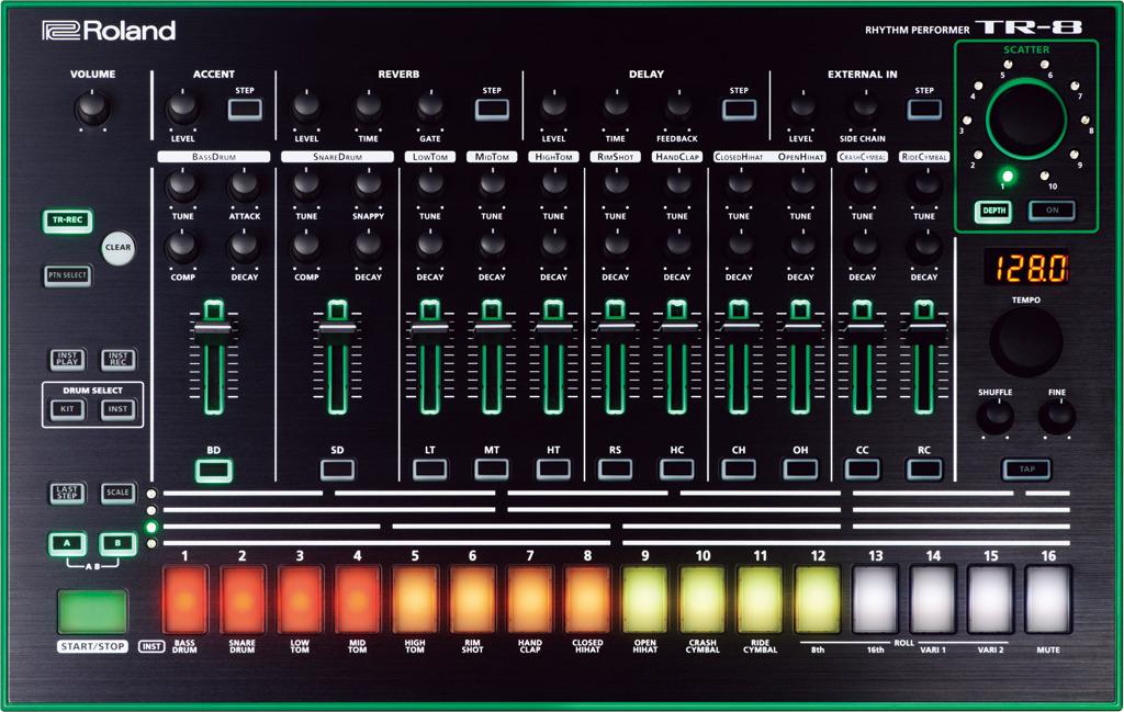 Синтезатор Roland Aira TR-8 roomble подсвечник aira rose