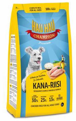 Корм для собак Hau-Hau Champion \Курица и рис\ 15 кг hau hau champion купить в мурманске