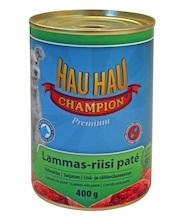 Консервы для собак Hau-Hau Champion \Ягненок и рис\ 400 г hau hau champion купить в мурманске