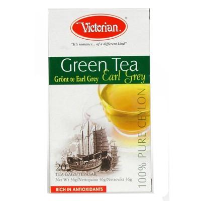 Чай в пакетиках зелёный  Earl Grey 20 шт