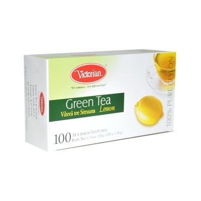 Чай в пакетиках Green Tea Lemon 100 шт wholesale 1kg dry lemon slice chinese herbal flower tea tisane caffeine free fruit tea 100