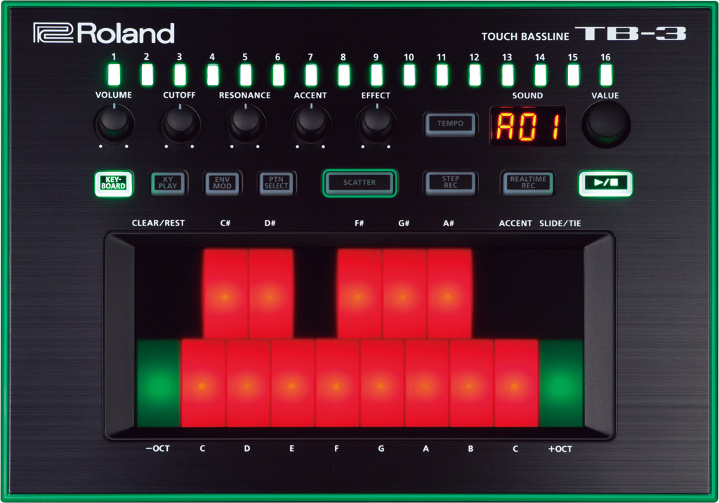 Синтезатор басовый Roland Aira TB-3 roomble подсвечник aira rose