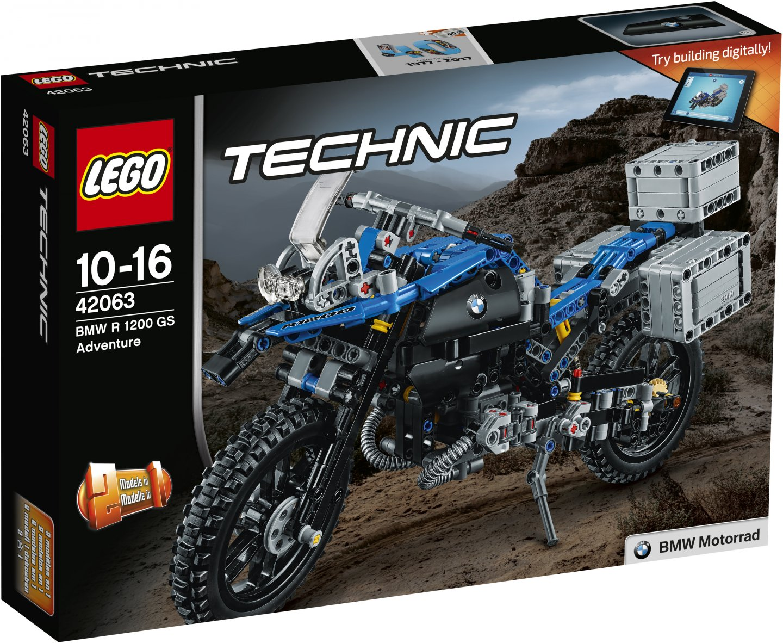 LEGO Technic 42063 Приключения на BMW R 1200 GS lego technic ремонтный автокран 42031