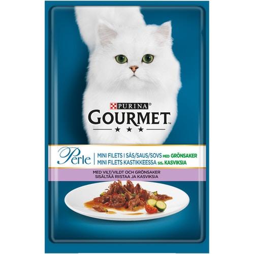 Консервы Gourmet Perle кролик в соусе 85гр для кошек гурме консервы пауч с лососем для кошек gourmet perle mini fillets 85 г