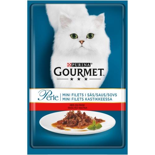 Консервы Gourmet Perle говядина в соусе 85гр для кошек гурме консервы пауч с лососем для кошек gourmet perle mini fillets 85 г