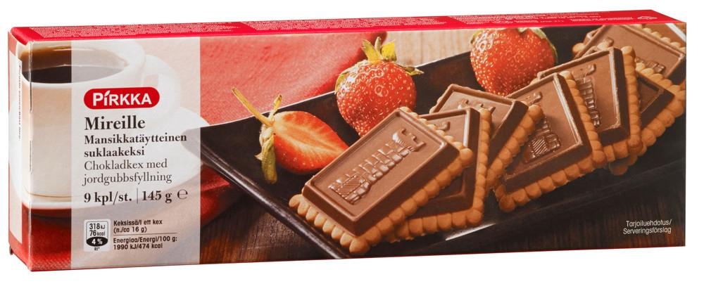 Pirkka Mireille шоколадное печенье с клубникой 145 гр shemelis tesfa the practice