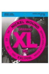 Струны 45-100 D'Addario EFX170SL Flex Steels Super Long Scale Regular Light Gauge